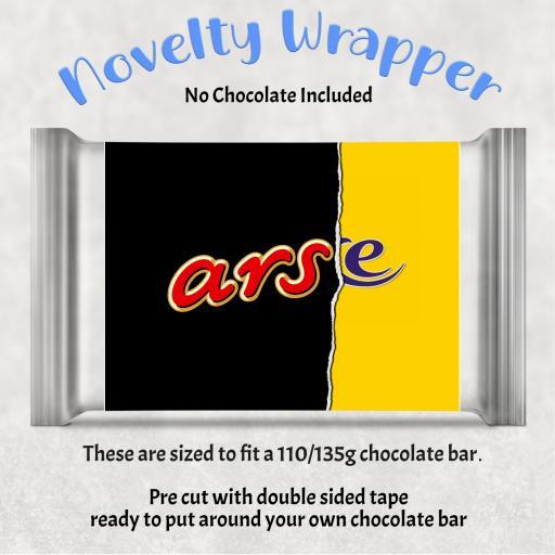 Arse Chocolate Bar Wrapper