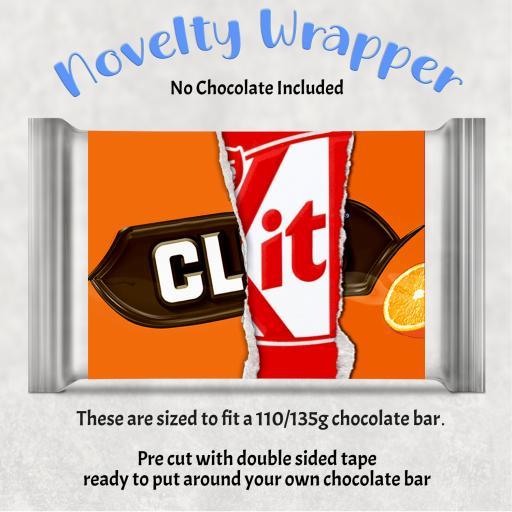 Clit Chocolate Bar Wrapper