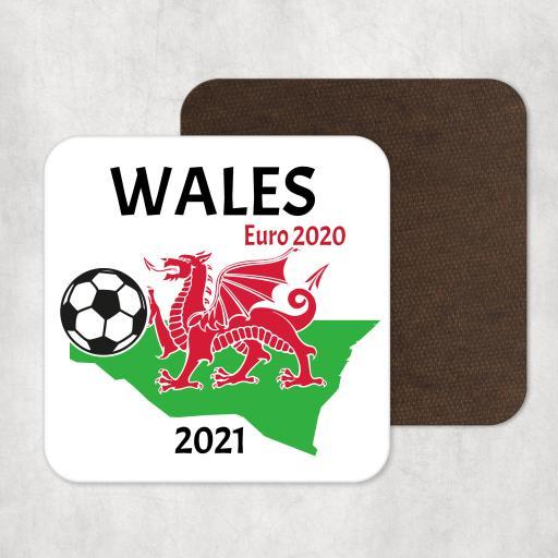Wales Euro 2020 - 2021 Coaster