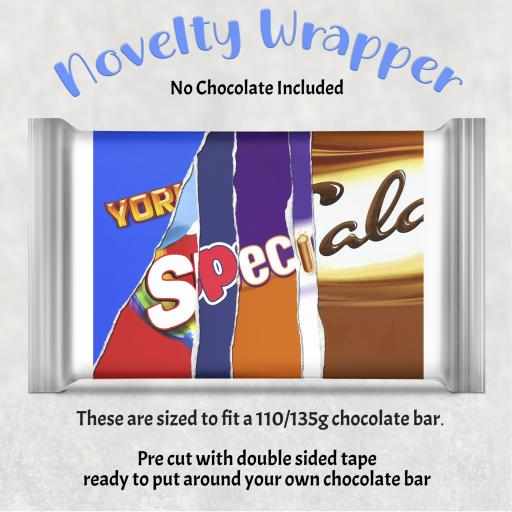 Special Chocolate Bar Wrapper