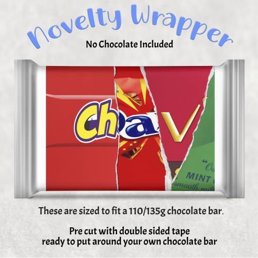 Chav Chocolate Bar Wrapper