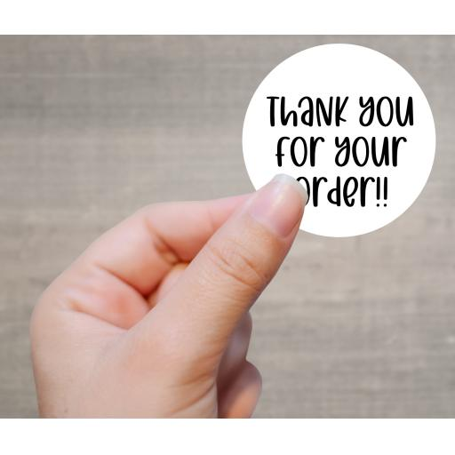 Thank you for your order Printed Sticker