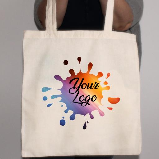 Design your Own 100% Cotton Tote Bag with your logo