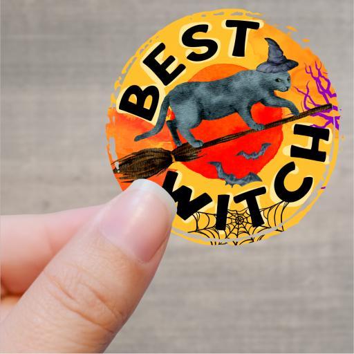 Best Witch Printed Sticker
