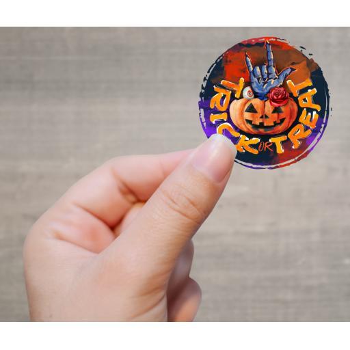 Trick or Treat Printed Sticker