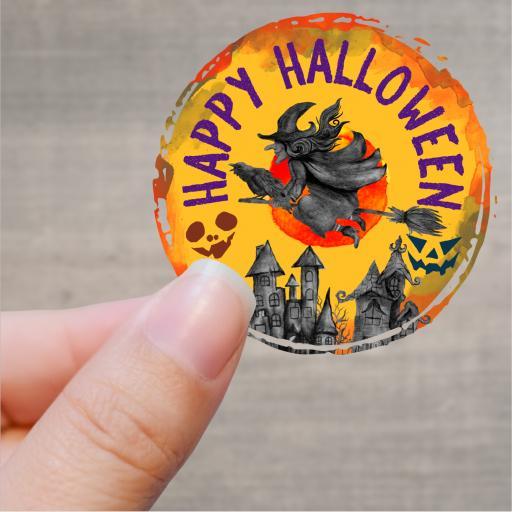 Happy Halloween Printed Sticker