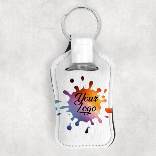 Design you Own Hand Sanitiser Keyring / Holder with your Logo