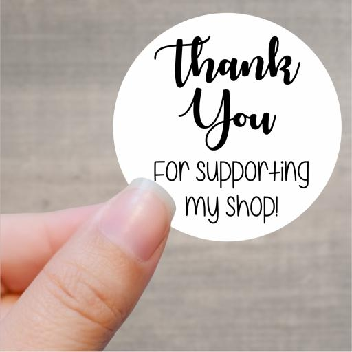 Thank you for supporting my shop Printed Sticker