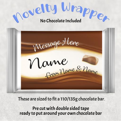 Personalised Galaxy Chocolate Bar Wrapper