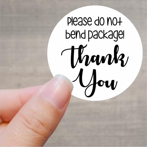 Please do not bend package! Thank You Printed Sticker