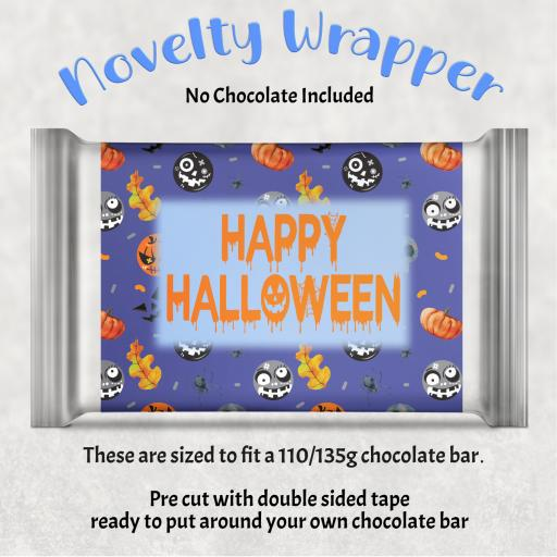 Happy Halloween V2 Chocolate Bar Wrapper