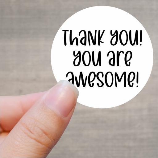 Thank you! you are awesome Printed Sticker