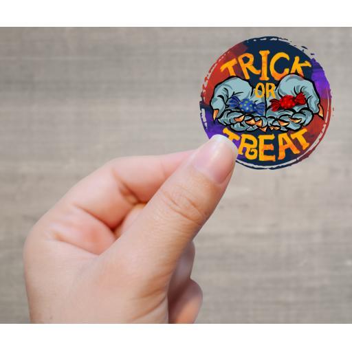 Trick or Treat V2 Printed Sticker