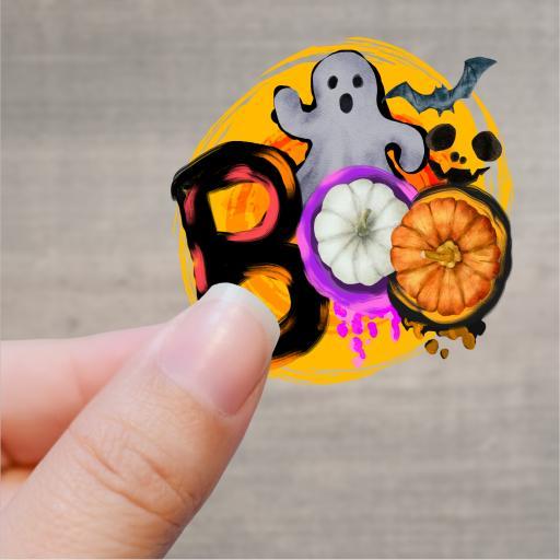 Boo Printed Sticker