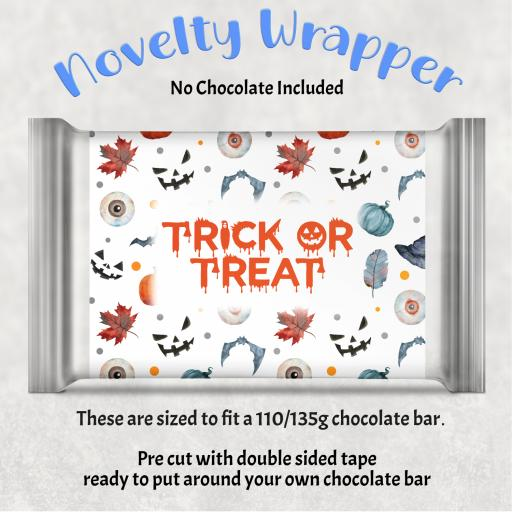 Trick or Treat Chocolate Bar Wrapper