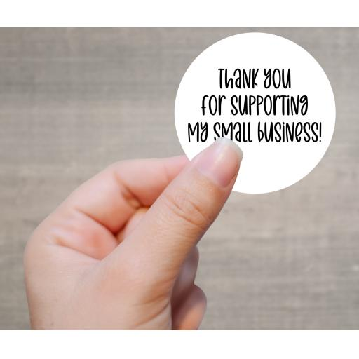 Thank you for supporting my small business Printed Sticker