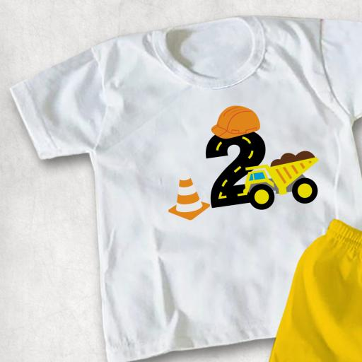 Construction Age 2 Kids T-shirt or Hoodie