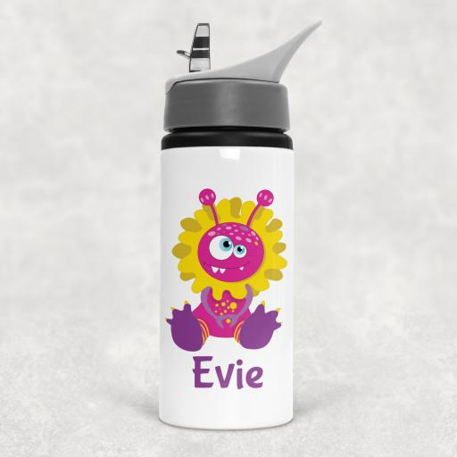 Monster Personalised Sports Water Bottle with Straw