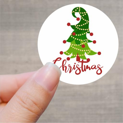 Christmas Printed Sticker