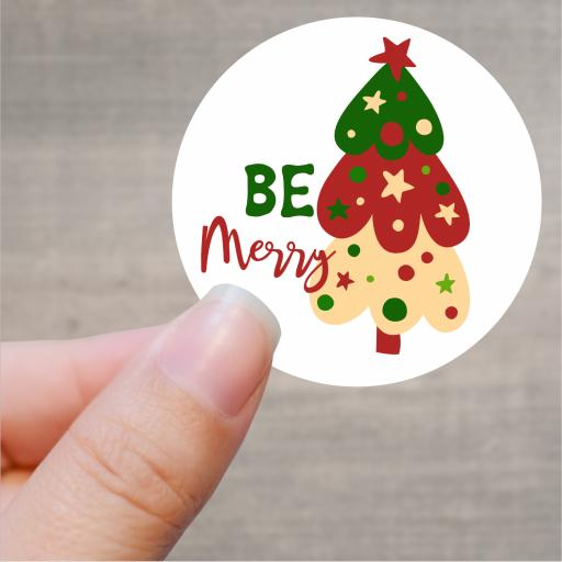 Be Merry Printed Sticker