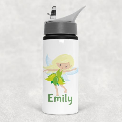 Fairy Personalised Sports Water Bottle with Straw