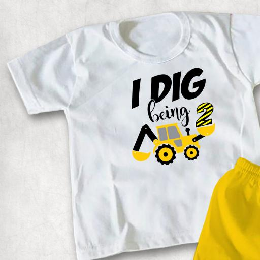 I dig being Personalised with Number printed Childs T-shirt or Hoodie