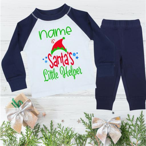 Santa's Little Helper Personalised Christmas Pyjamas