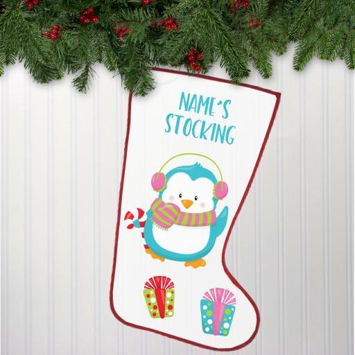 Penguin Personalised Stocking