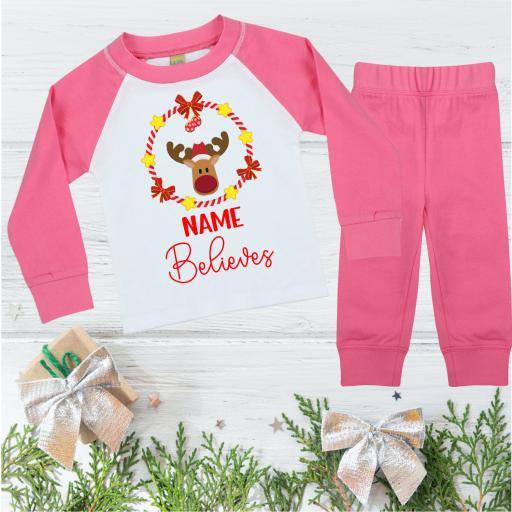 Name Believes Christmas Pyjamas