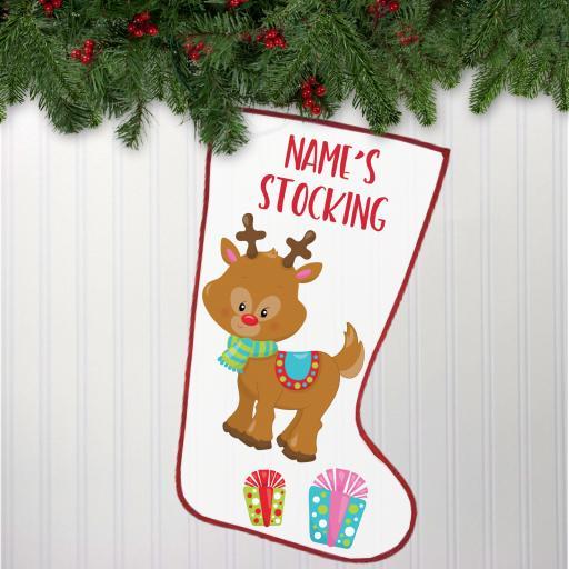 Reindeer Personalised Stocking