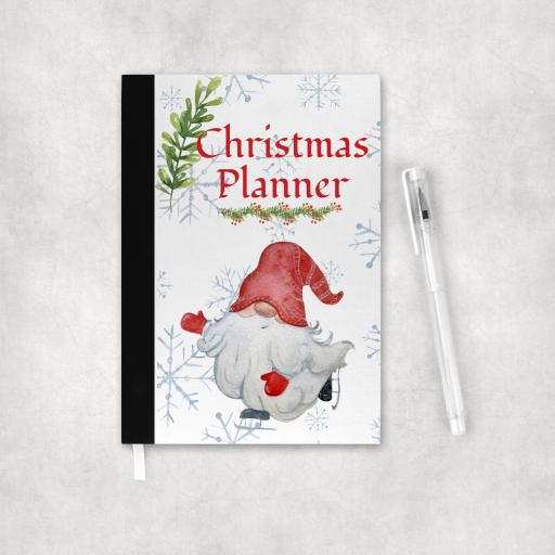 Christmas Planner Skating Gnome Notebook