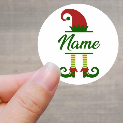 Elf Personalised Printed Sticker