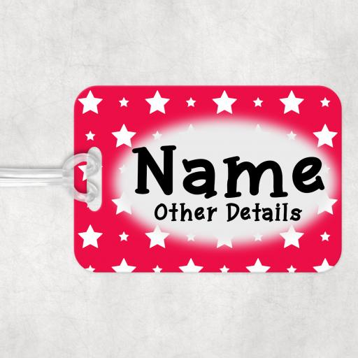Red Star Personalised Luggage Bag Tag
