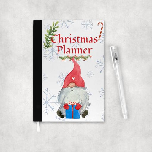 Christmas Planner Sitting Gnome Notebook