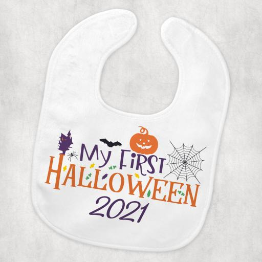 My First Halloween 2021 Baby Bib