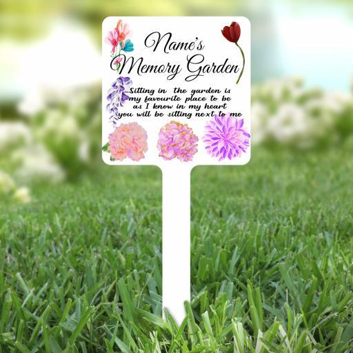 Personalised Memory Garden Garden Stake