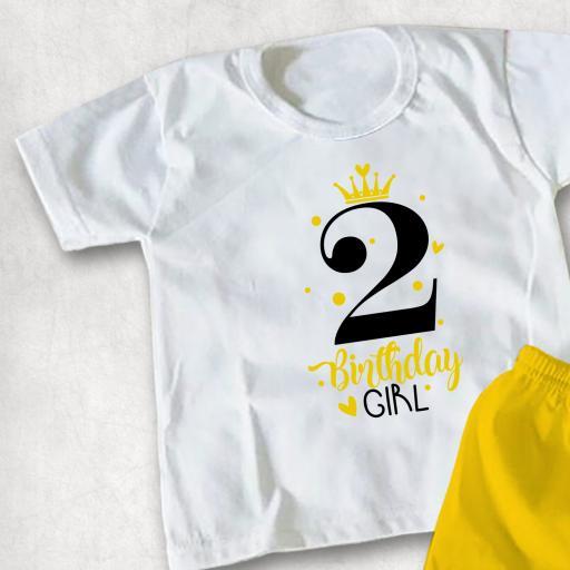 Princess Birthday Girl 2 Kids T-shirt or Hoodie
