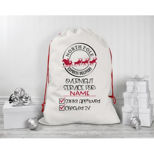 Overnight Service for Personalised Drawstring Sack