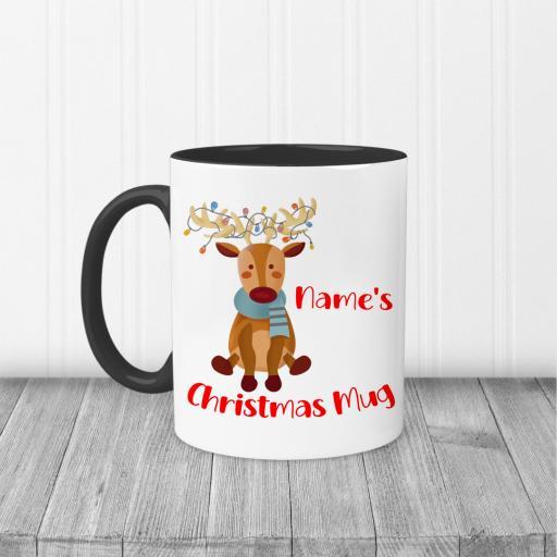 Reindeer Christmas Personalised Mug
