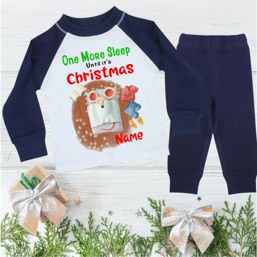 One More Sleep Mouse Personalised Christmas Pyjamas