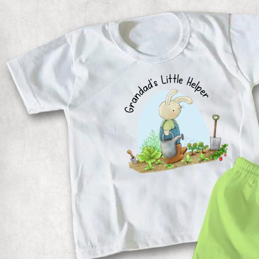 Grandad Grandma's Little Helper printed Childs T-shirt or Hoodie