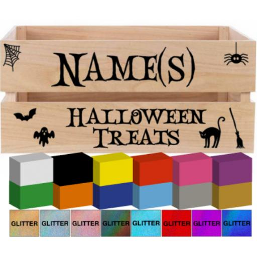 Halloween Treats Crate Decal / Sticker/ Graphic