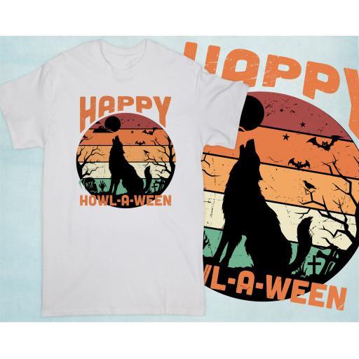 Happy Howl A Ween T-shirt, Hoodie or Vest