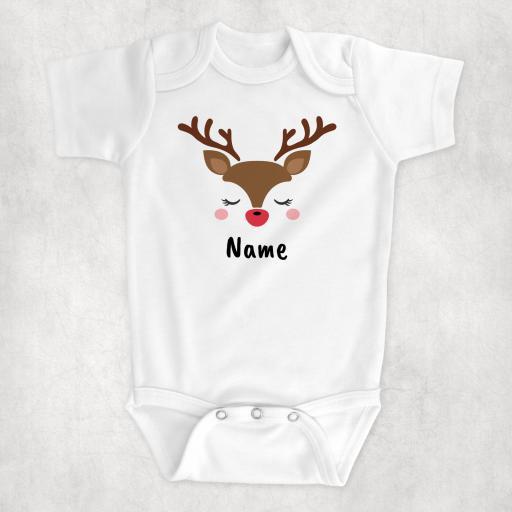 Reindeer Personalised Christmas Bodysuit