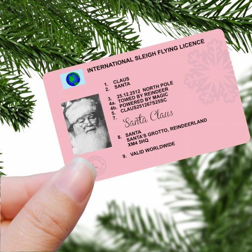 Santa Claus Lost International Flying Licence