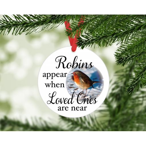Robins appear MDF Christmas Ornament / Bauble