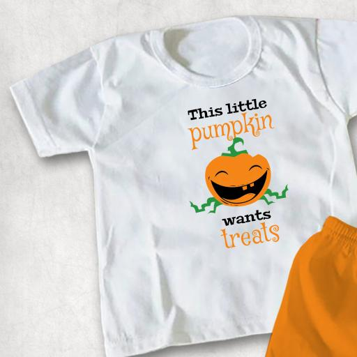 This little pumpkin wants treats Childs T-shirt or Hoodie
