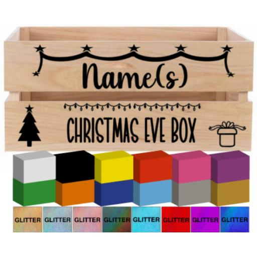Christmas Eve Box Crate Decal / Sticker/ Graphic