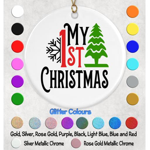 My 1st Christmas Bauble Decal / Sticker/ Graphic