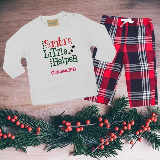 Design you own Tartan Christmas Pyjamas Toddler